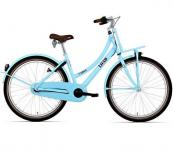 "Bike fun 26"" meisjes load 3 speed wit baby blauw 26lmd70"