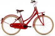 "Bike fun 26"" meisjes love&peace 3 speed rood 26lmd100"