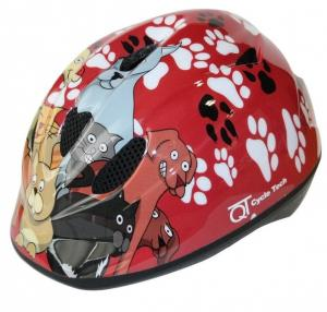 Cycle tech helm red cats-dogs 46-52cm 2810110