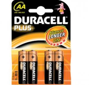 Duracell plus power mn1500/lr6/aa bp4