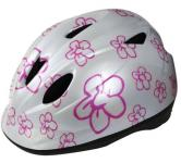 Cycle tech helm white flowers 46-52cm 2810107